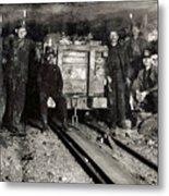 Hine: Coal Miners, 1911 Metal Print