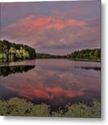 Hinson Lake Clouds Metal Print