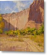 Hint Of Autumn Canyon De Chelly Metal Print