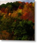 Hint Of Fall Color Painting Metal Print