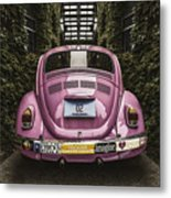 Hippie Chick Love Bug Metal Print