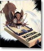 Hirohito As A Rat Metal Print