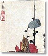 Hiroshige: Poppies Metal Print