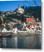Hirschhorn Village On The Neckar Metal Print