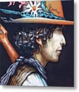 His Curls Metal Print