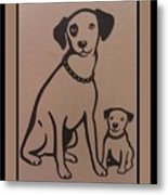 His Masters Voice - Nipper And Chipper Metal Print