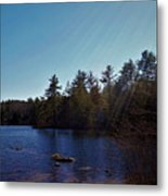 His Shining Light Metal Print