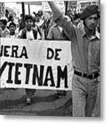 Hispanic Anti-viet Nam War March 2 Tucson Arizona 1971 Metal Print