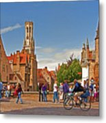 Historic Bruges Metal Print