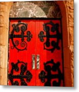 Historic Church Doors Metal Print