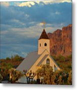 Historic Church In Superstition Mountain State Park Metal Print