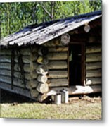 Historic Log Trappers Cabin Metal Print