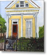 Historic Louisiana Cottage Metal Print