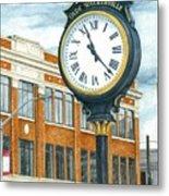 Historic Olde Walkerville Clock Metal Print