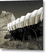 Historic Oregon Trail - Vintage Photo Art Print Metal Print