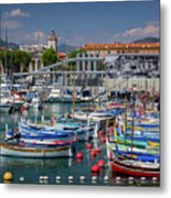 Historic Port Of Nice, France Metal Print