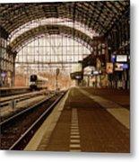 Historic Railway Station In Haarlem The Netherland Metal Print