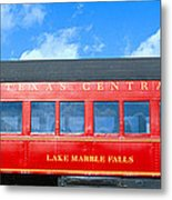 Historic Red Passenger Car, Austin & Metal Print