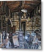 Historic Saddlery Shop - Montana Territory Metal Print