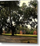 Historic Slave Houses At Boone Hall Plantation In Sc Metal Print