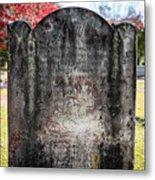 Historic Stone - Quaker Cemetery Metal Print