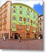 Historic Street Of Innsbruck Panoramic View Metal Print
