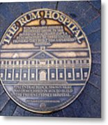 Historic Sydney Hospital - Plaque On Sidewalk Metal Print