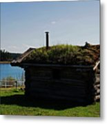 Historic Trappers Log Cabin Metal Print