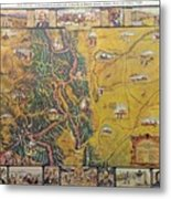 Historical Map Of Early Colorado Metal Print