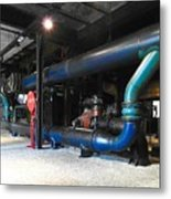 Historical Pipes Metal Print