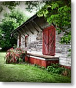 Historical Train Station In Belle Mina Alabama Metal Print