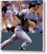 Hit Man  Don Mattingly  Metal Print