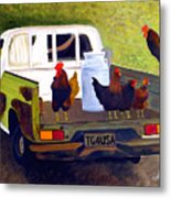 Hitchin' A Ride To Town Metal Print