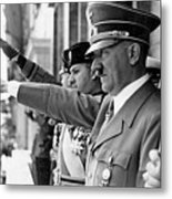 Hitler And Italian Count Ciano Chancellory Berlin 1939 Metal Print