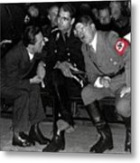 Hitler Conferring With Joseph Goebbels Circa 1936 Color Added 2016 Metal Print