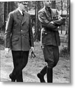 Hitler Strolling With Albert Speer Unknown Date Or Location Metal Print