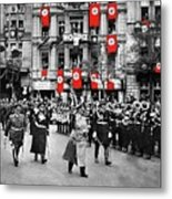 Hitler With Goering And Himmler Marching In Munich Germany C.1934-2016  Metal Print