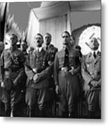 Hitler With Nazi Party Bigwigs Julius Streicher On Far Right C. 1935 Color Added 2016 Metal Print
