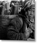 H'mong Woman Metal Print