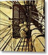 Hms Bounty - Up The Mast - 2 Metal Print
