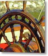 Hms Bounty Wheel Metal Print