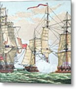 Hms Shannon Vs The American Chesapeake Metal Print