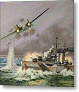 Hms Ulysses Attacked By Heinkel IIis Off North Cape Metal Print