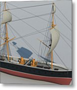 Hms Warrior 1860 - Bow To Stern Technical Metal Print