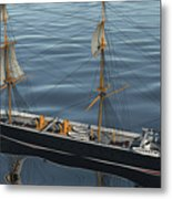Hms Warrior 1860 - Stern To Bow Ocean Metal Print