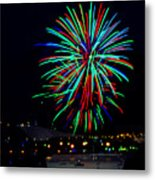 Hobart New Years Eve Fireworks Metal Print