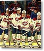 Hockey Art The Habs Fab Four Metal Print by Carole Spandau