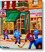 Hockey At Mehadrins Metal Print