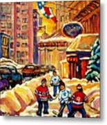 Hockey Fever Hits Montreal Bigtime Metal Print