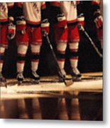 Hockey Reflection Metal Print